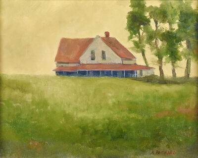 Anne Packard, 'Untitled (Landscape with House)'
