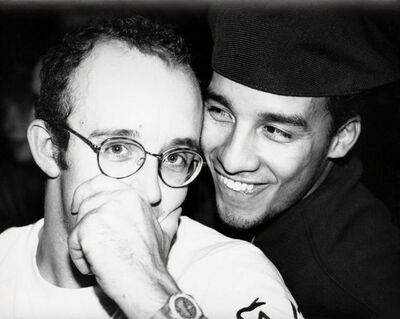 Andy Warhol, 'Keith Haring & Juan Rivera (smiling)', 1986