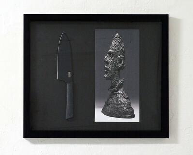 Satoshi Hashimoto, 'SCULPTURE OF GIACOMETTI AND BLACK KNIFE', 2018