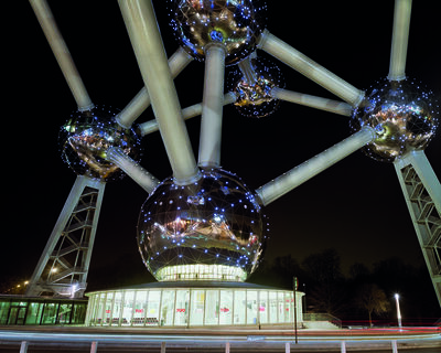 """Jade Doskow, 'Brussels 1958 World's Fair, """"A New Humanism,"""" Atomium at Night'"""