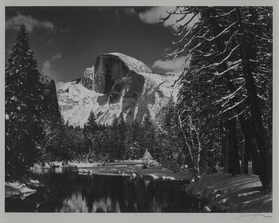 Ansel Adams, 'Half Dome, Merced River, Winter, Yosemite National Park', 1938