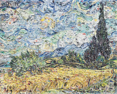 Vik Muniz, 'Wheat Field with Cypresses, after Van Gogh from Pictures of Magazines 2', 2011