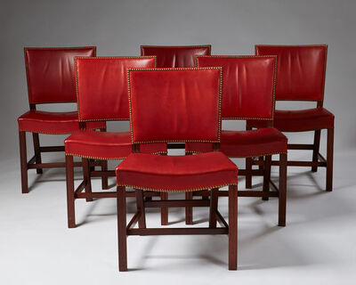 "Kaare Klint, 'Set of six dining chairs ""The Red Chair""', 1933"