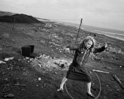 Chris Killip, 'Helen and her hoola-hoop, Seacoal Beach, Lynemouth', 1984