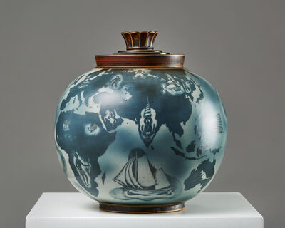 Gunnar Nylund, 'Lidded urn Flambé', 1940-1949