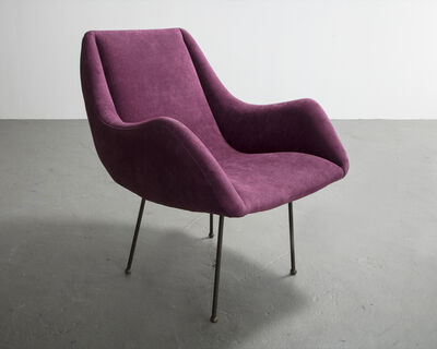 Carlo Hauner, 'Lounge chair with upholstered seat and iron frame. Designed by Carlo Hauner for Forma, Brazil, circa 1960.', ca. 1960
