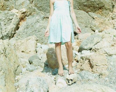 "Jorge Fuembuena, '""Girl with skull""', 2018"