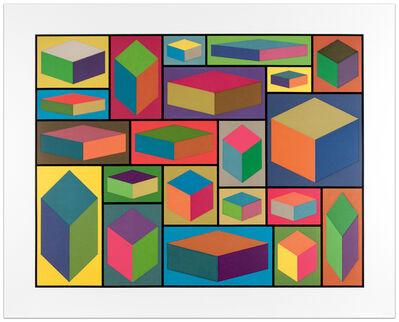 Sol LeWitt, 'Distorted Cubes (Plate #2)', 2001
