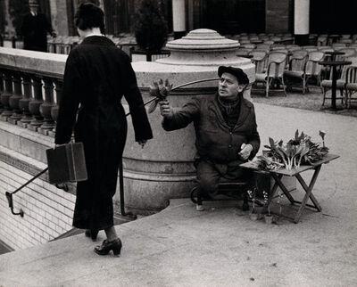 André Kertész, 'Muguet seller, Champs Elysees, May 1st 1928', 1928