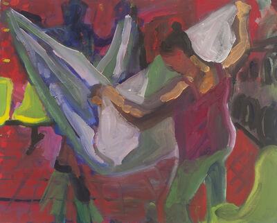 Dena Schutzer, 'Laundromat, Folding Red', 2018