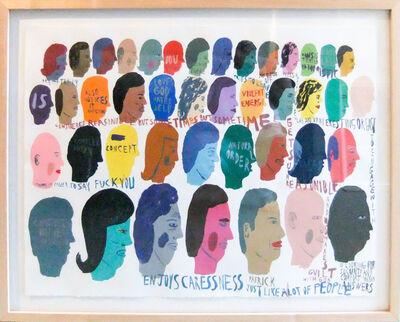 Chris Johanson, 'Untitled (Heads)', 2003