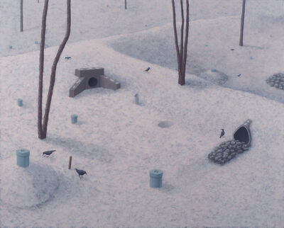 Nora Sturges, 'Drainage Area with Birds', 2013