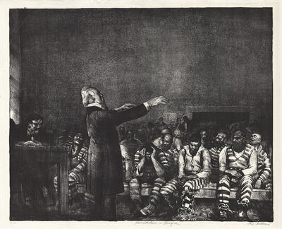 George Wesley Bellows, 'Benediction in Georgia.', 1916