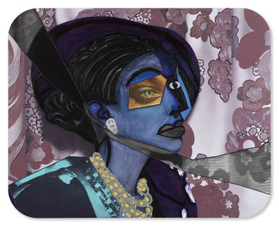 Mickalene Thomas, 'Portrait of Aaliyah', 2018