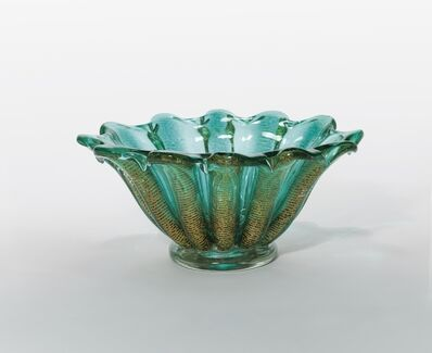 Ercole Barovier, 'A gold-rimmed glass bowl', 1950s