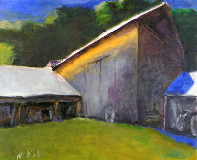 Wolf Kahn, 'DUNKLEE BARN (SMALL VERSION)', 2007