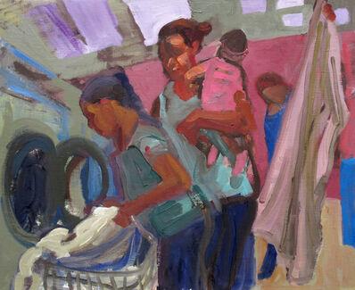 Dena Schutzer, 'Laundromat, Mom and Two Children', 2018