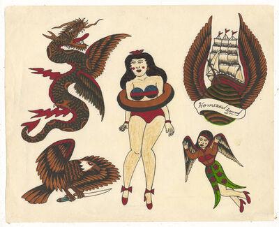 Rosie Camanga, 'Untitled (Dragon Pinup Tall Ship)', 1950-1980
