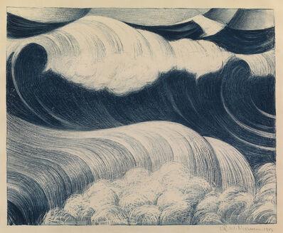 Christopher Richard Wynne Nevinson, 'The Blue Wave', 1917