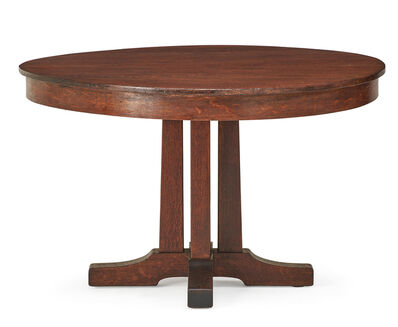 L. & J.G. Stickley, 'Prairie dining table, Fayetteville, NY', early 20th C.