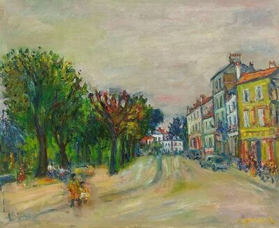 Jacques Zucker, 'Parisian Street Scene, Oil on Canvas', 20th Century