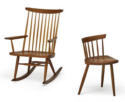 George Nakashima, 'Rocker and Mira chair, New Hope, PA, (Mira chair)', 1963