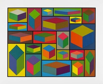 Sol LeWitt, 'Distorted Cubes #2', 2001