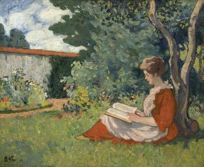 Georges d'Espagnat, 'Femme lisant dans un jardin'