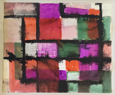 Lawrence Calcagno, 'untitled color grid', 1963