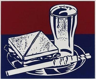 Roy Lichtenstein, 'Sandwich andSoda', 1965