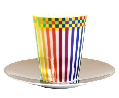 Julio Le Parc, 'Surface Colorée B29: Espresso Cup + Platinum Saucer ', 2016