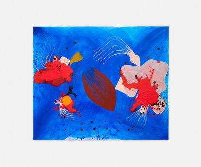 Philipp Schwalb, 'FlächtlingsSog (Blues-Soul) Vogel-Bild-Generator, Metamorph-Instrumentz (Schnabel, Klaue und Flügel) FleckSchlag als erstes virtuelles Farblicht (RÄPs), planetarische Spannung (Orangen und violette)', 2016