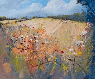 Robert Newton, 'Poppies, Brambles, Wheat', 2018