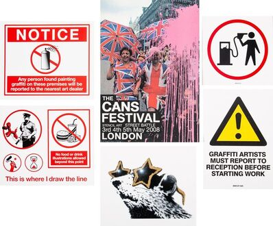 After Banksy, 'The Cans Festival Booklet and stickers', 2008