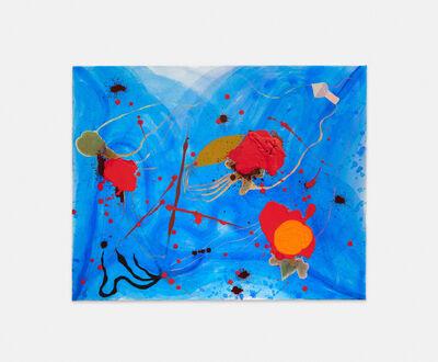 Philipp Schwalb, 'FlächtlingesSog, (Blues-Soul)  Pflanzen-Bild-Generator, Metamorph-Instrumentz (Strengel, Blatt und Wurzel), FleckSchlag als erstes virtuelles Farblicht (RÄPs), planetarische Spannung (Orangen und violette)', 2016