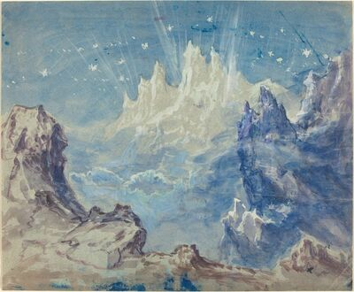 Robert Caney, 'Fantastic Mountainous Landscape with a Starry Sky'