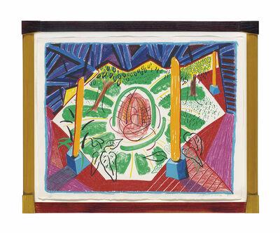 David Hockney, 'View of Hotel Well II', 1985