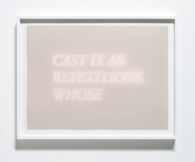 Cody Trepte, 'Cast It As Repetitions Whose', 2013