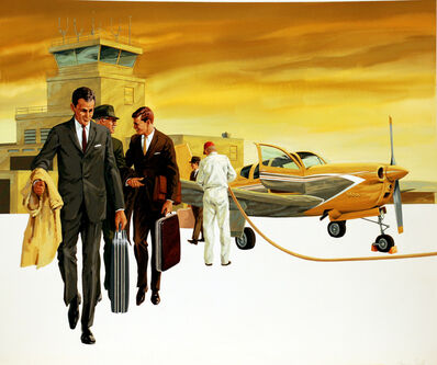 Larry Salk, 'Stylish Business Executives at an Airport', 1961