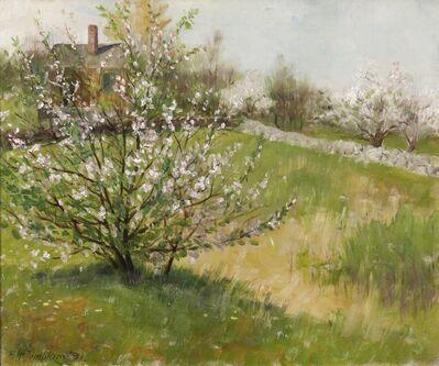 Frank Henry Tompkins, 'Northeast Landscape - Apple Blossoms', 1890