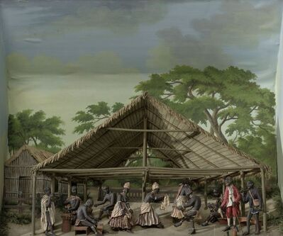 Gerrit Schouten, 'Diorama of a slave dance', 1830