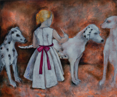 Therese Nortvedt, 'Painting Dalmatians'