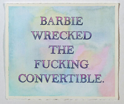 Alex Gingrow, 'Barbie Wrecked the Fucking Convertible', 2017