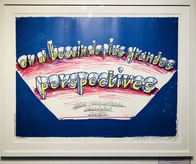 David Hockney, 'Signed Wider Perspectives are needed now (On a besoin de plus grandes perspectives)', 1985