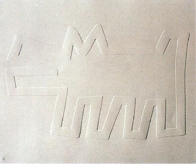 Keith Haring, 'White Icons: Barking Dog', 1990