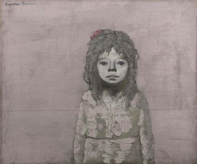 Xavier Bueno, 'Portrait of a young girl', executed in the Sixties