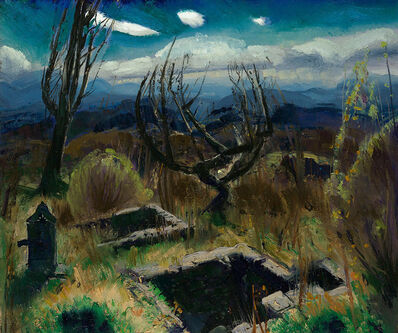 George Wesley Bellows, 'Deserted Farm, No. II', 1920