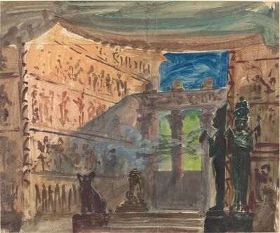 Robert Caney, 'Interior of an Ancient Egyptian Temple', ca. 1888