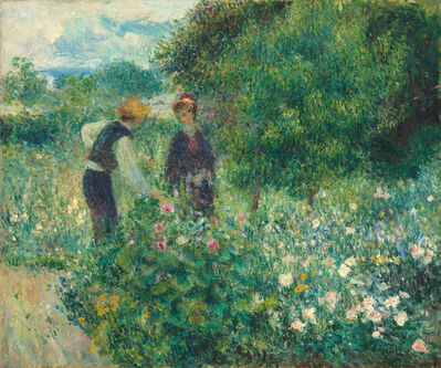 Pierre-Auguste Renoir, 'Picking Flowers', 1875