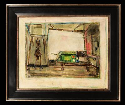 Claude Venard, 'Interior with billiard', ca. 1935